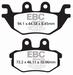 EBC gesinterd - Kawasaki KAF1000 Mule Pro 16-17 achter