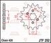 JT Tandwiel voor - Honda TRX70 - 15T