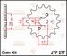 JT Tandwiel voor - Honda TRX90 - 13T