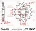 JT Tandwiel voor - Honda TRX450R 06-14 - 14T