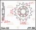 JT Tandwiel voor - Honda TRX700 08-09 - 15T