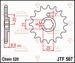 JT Tandwiel voor - Kawasaki KLT250 - 13T