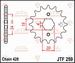 JT Tandwiel voor - Kymco 50 KXR - 17T
