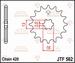 JT Tandwiel voor - Suzuki LTA50 02-05 - 10T