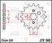 JT Tandwiel voor - Yamaha YFA125 Breeze/YFM125 Grizzly - 17T