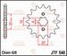 JT Tandwiel voor - Yamaha YFM125R Raptor - 14T