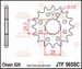 JT Tandwiel voor - Yamaha YFZ450 04-13 - 15T