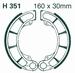 EBC organisch - Honda TRX400 Fourtrax 04-07 achter
