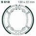 EBC gesinterd - Kawasaki KFX80 03-06 achter