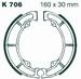 EBC organisch - Kawasaki KLF300 Bayou 88-04 achter