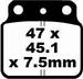 EBC organisch - Suzuki LTR450 06-12 - achter