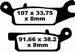EBC gesinterd - Yamaha YFM550/700 Grizzly - linksvoor