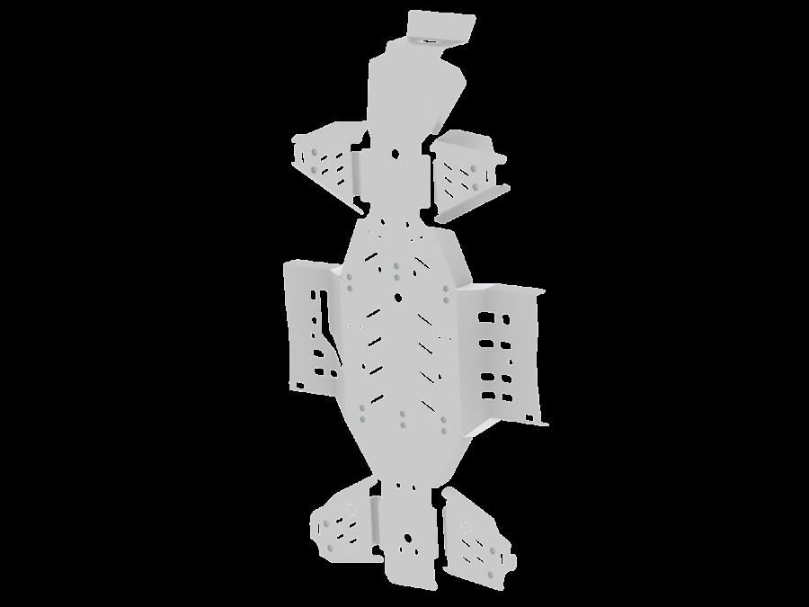 IB- skid plate kit - Arctic Cat 1000i alu 09-15