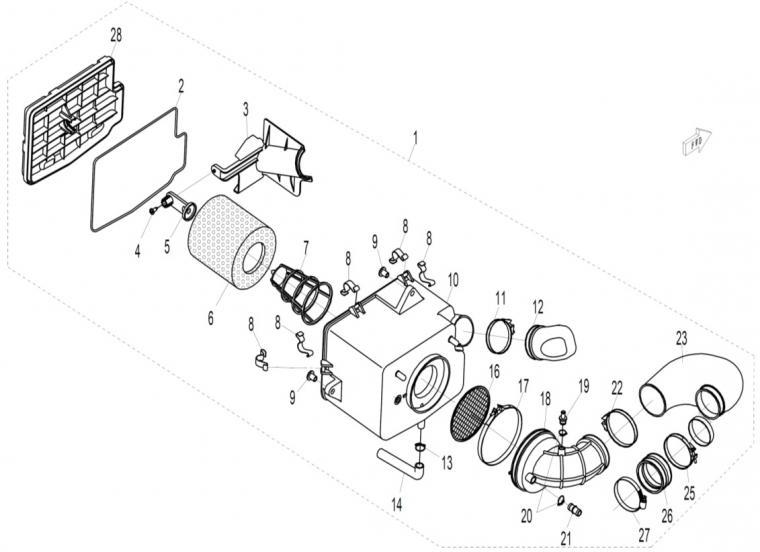 Air filter assy
