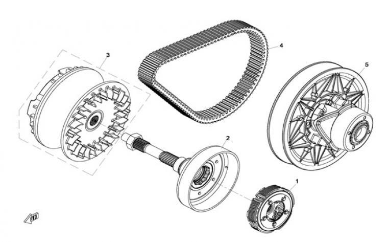 Clutch / pulleys
