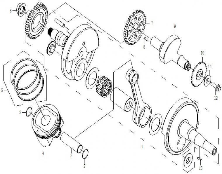 Crankshaft / piston