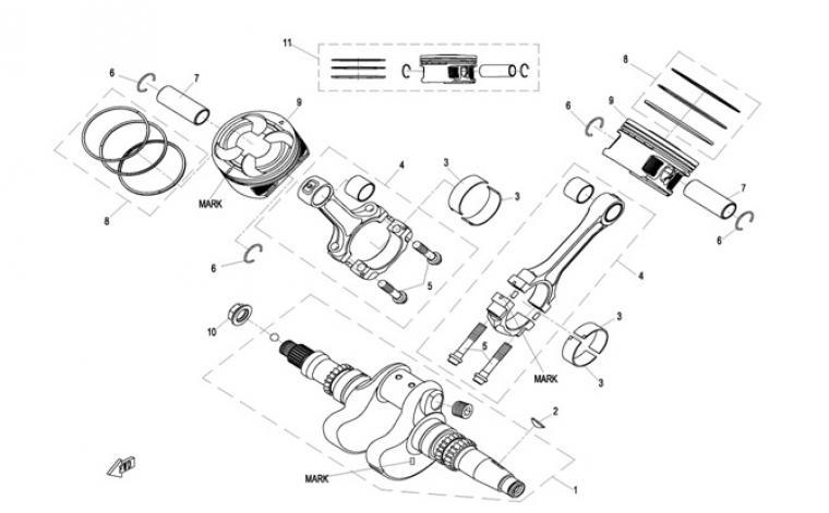 Crankshaft / pistons