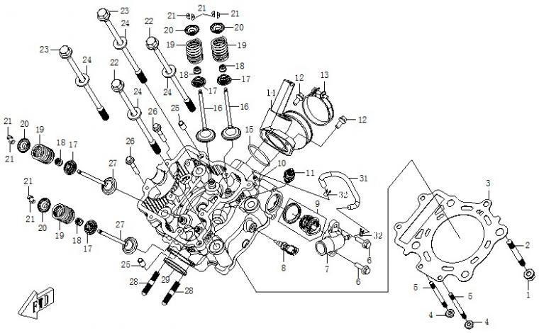 Cylinder head (EFI)