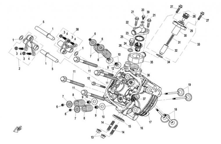 Cylinderhead cylinder 1