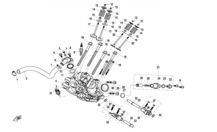 Cylinderhead cylinder 2
