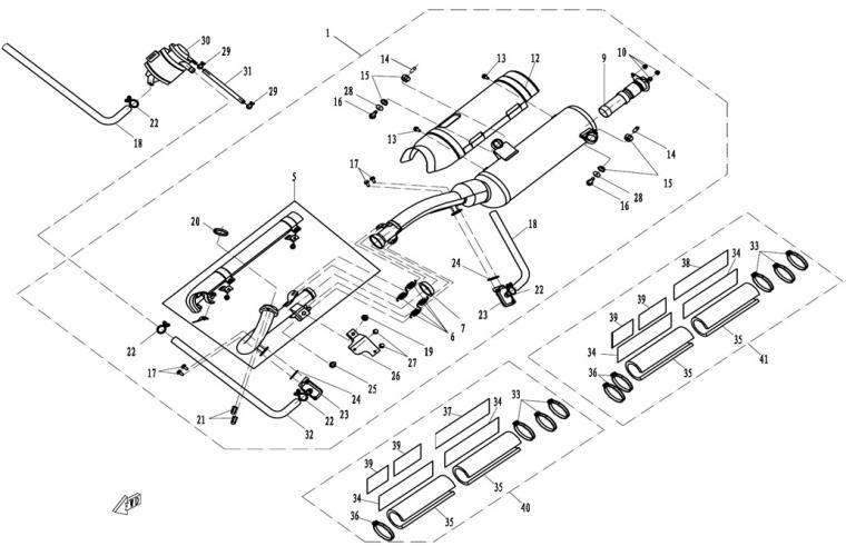 Exhaust (carburator)