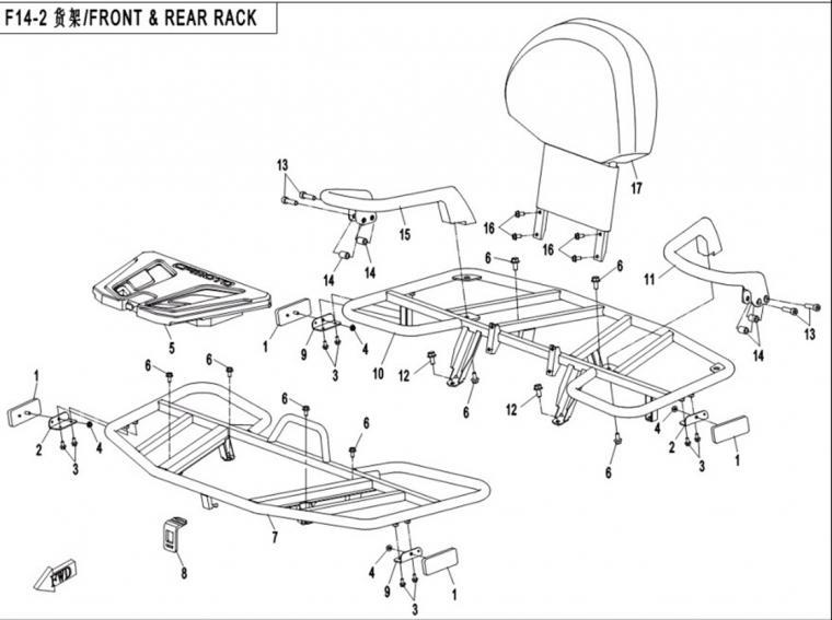 Front & rear rack (steel)