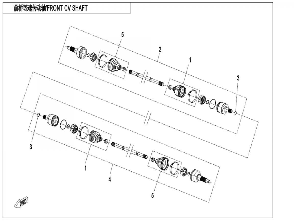 Front CV shaft