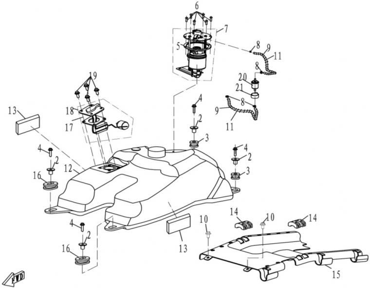 Fuel tank (EFI)