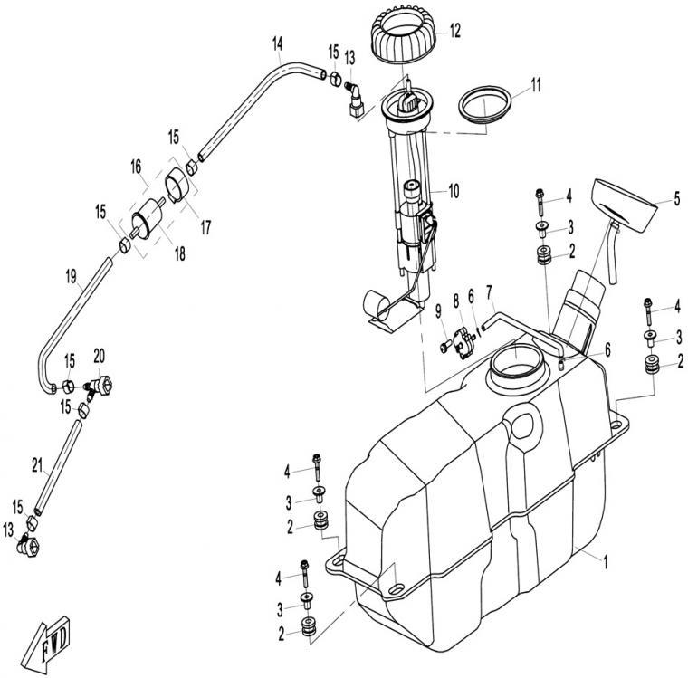 Fuel tank, plastic