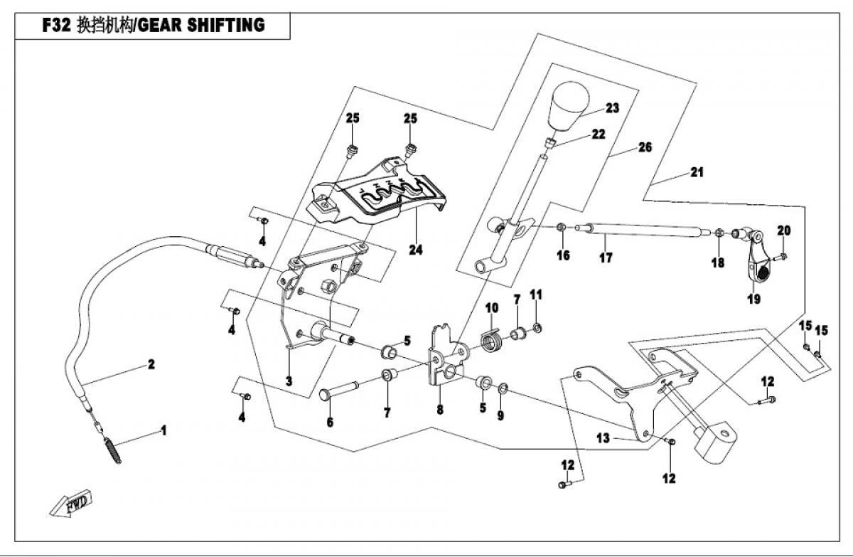 Gear shifting system