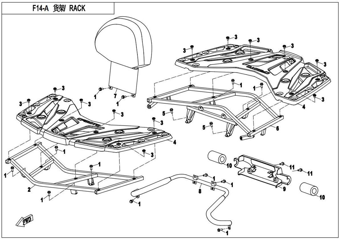Rack assy (plastic)