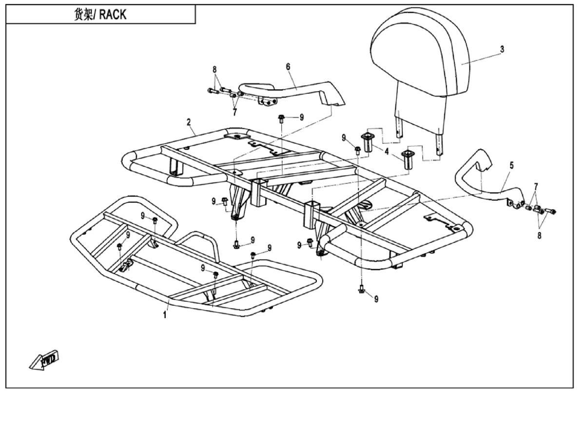 Rack assy (steel)