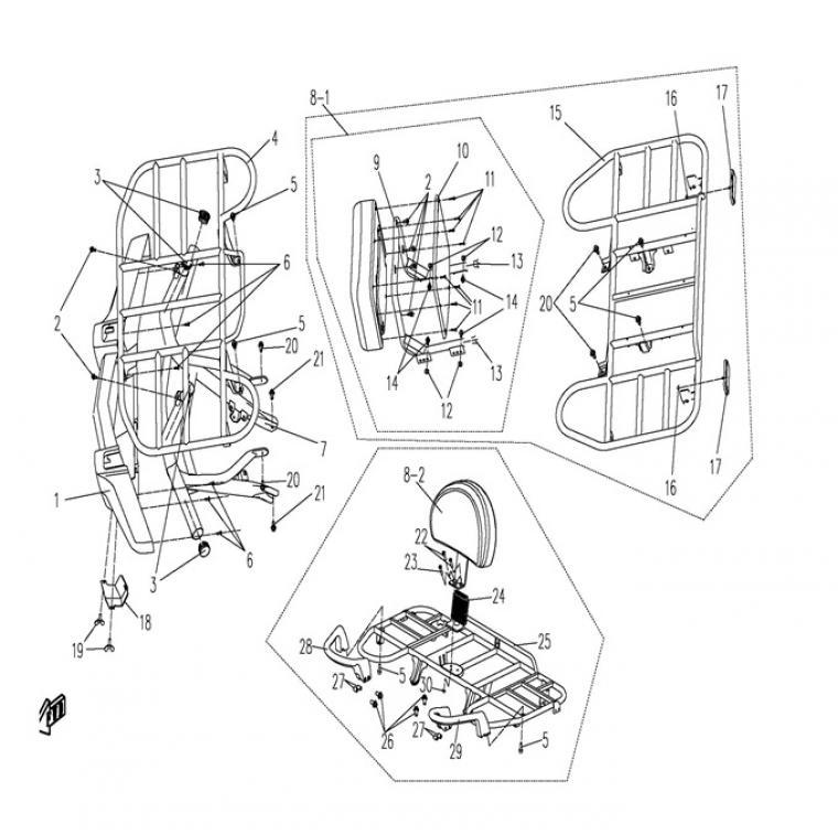 Racks / backrest (2)