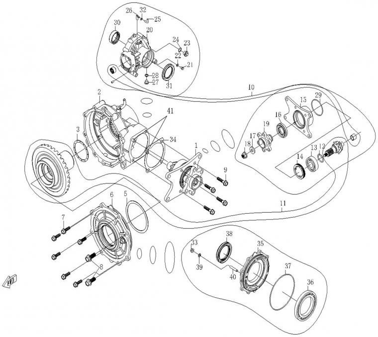 Rear axle (1)
