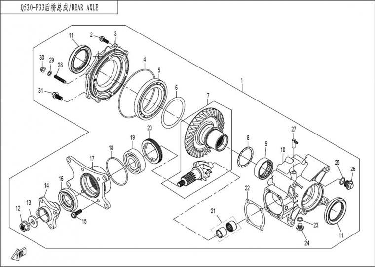 Rear axle (2)