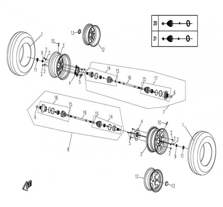 Rear drivetrain