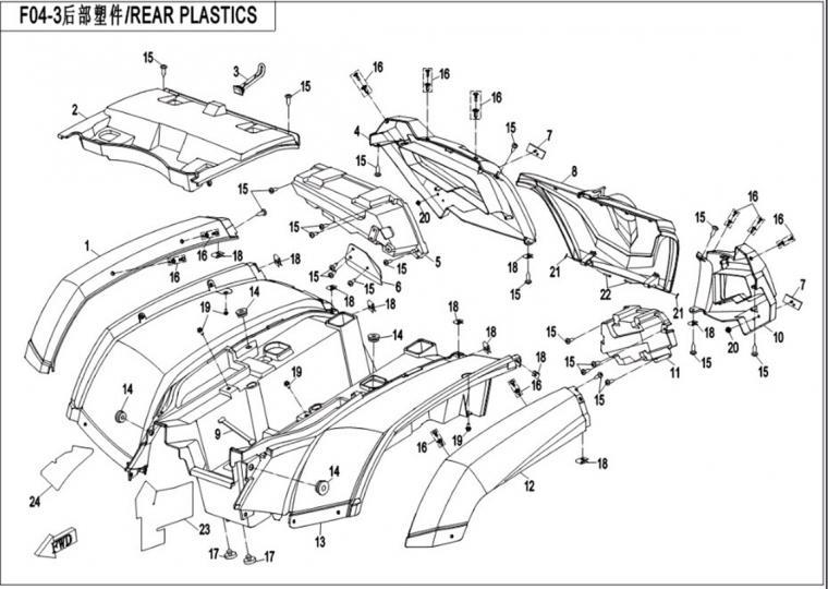 Rear plastics