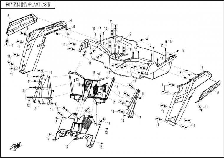Rear plastics I