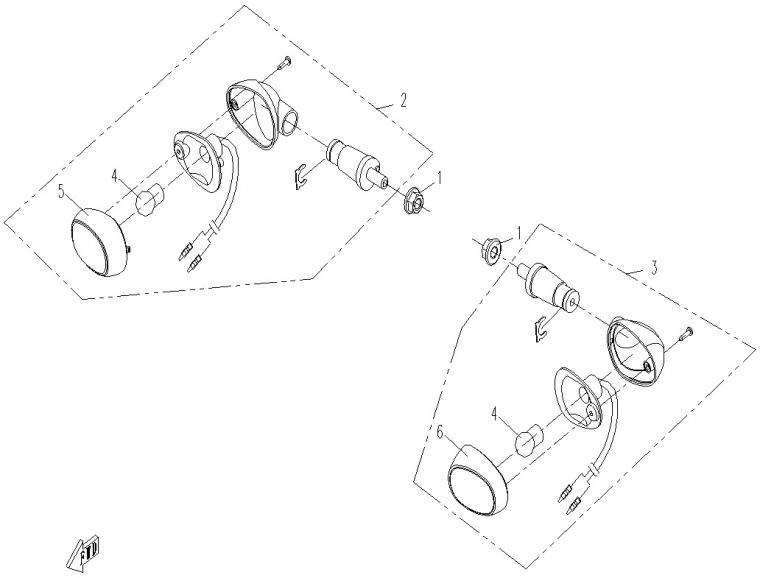 Rear turn lights