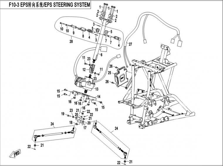 Steering system EPS (2015)