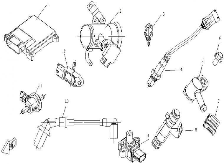 Throttle body (EFI) + electronics