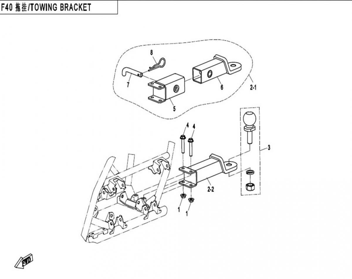 Towing bracket